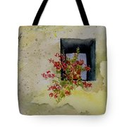 Niche With Flowers Tote Bag