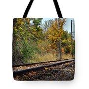 Nickel Plate Train Tracks Tote Bag