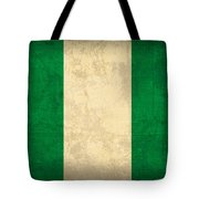 Nigeria Flag Vintage Distressed Finish Tote Bag