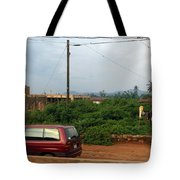 Nigerian Mountains In The Distance Tote Bag