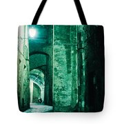 Night Alley In Old City Of Siena Tuscany Italy Tote Bag