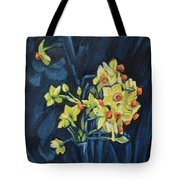 Night And Flowers Tote Bag