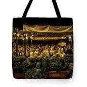 Night At The Cafe - Taormina - Italy Tote Bag