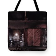 Night At The Durango Roundhouse Tote Bag