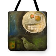 Night Bird Harvest Moon Tote Bag