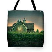 Night Cottage Tote Bag