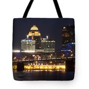 Night Descends Over Louisville City Tote Bag
