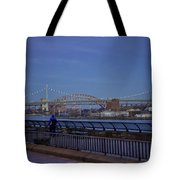 Night Falling Over The East River - Manhattan Tote Bag