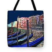 Night Falls In Venice Tote Bag