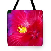 Night Fire Hibiscus Tote Bag