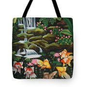 Night Fish Hand Embroidery Tote Bag