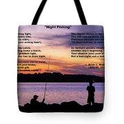Night Fishing - Poem Tote Bag
