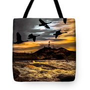 Night Flight Tote Bag by Bob Orsillo