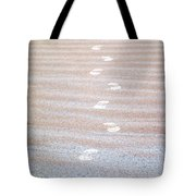 Night Beach Sand Footprints Tote Bag