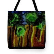 Night Forest Tapestry Tote Bag