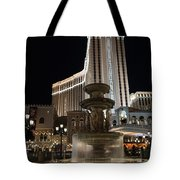 Night Glow At The Venetian Las Vegas Tote Bag