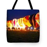 Night Glow Hot Air Balloons Tote Bag