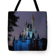 Night Illuminates Cinderella Castle Tote Bag