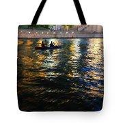 Night Kayak Ride Tote Bag by Margie Hurwich