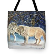 Night Life In The Forest Tote Bag