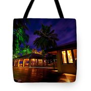 Night Lights At The Resort Tote Bag