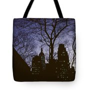 Night Lights Empire State Tote Bag