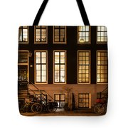 Night Lights In Amsterdam. Holland Tote Bag