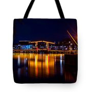 Night Lights On The Amsterdam Canals 1. Holland Tote Bag