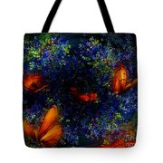 Night Of The Butterflies Tote Bag