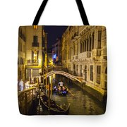 Night On The Canal - Venice - Italy Tote Bag