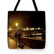 Night On The Charles Bridge Tote Bag