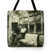 Night On The El Train Tote Bag