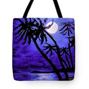 Night On The Islands Painterly Brushstrokes Tote Bag