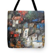 Night Over The Town Tote Bag