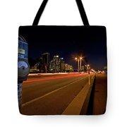 Night Parking Meter Tote Bag