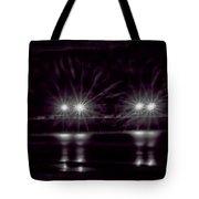 Night Pier Purple Tote Bag