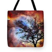 Night Sky Landscape Art By Sharon Cummings Tote Bag