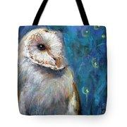 Night Snow Owl Tote Bag