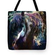 Night Stallion Tote Bag