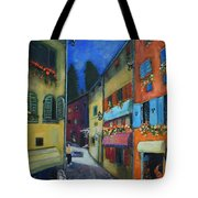 Night Street In Pula Tote Bag