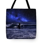 Night Surfing Tote Bag