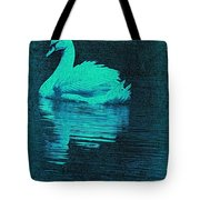 Night Swan L Tote Bag