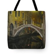 Night Time In Venice Tote Bag