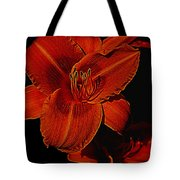 Night Time Lilly Tote Bag