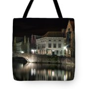 Night Time On The Canal Tote Bag