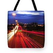 Night Traffic Tote Bag by Elena Elisseeva