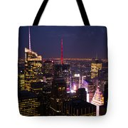 Night View Of New York Tote Bag