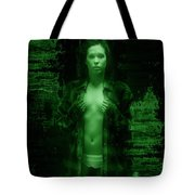 Night Vision Woman Tote Bag