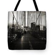 Nightfall On The Brooklyn Bridge Tote Bag