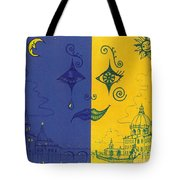 Nightime And Daytime In Venice Tote Bag